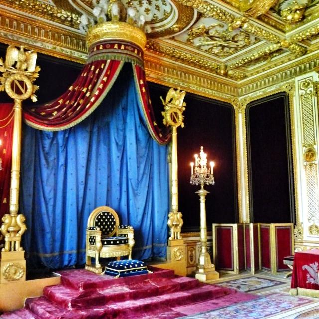 Fontainebleau, Salle du Trône (redécorée pour Napoléon Ier)