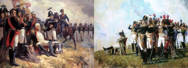 Koutouzov et Napoléon à la bataille de Borodino