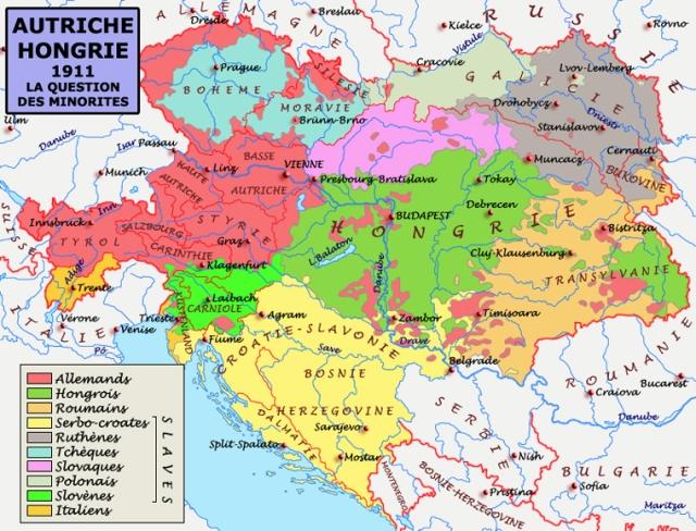 La mosaïque austro-hongroise à la veille de la Première guerre mondiale